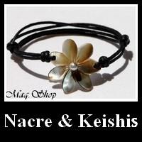 Vahinés Collection Bijoux Nacres & Keishis de Tahiti MAG.SHOP TAHITI