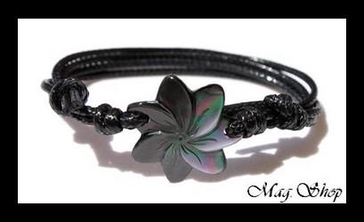 Vaianae Bracelet Fleur de Tiaré Nacre de Tahiti Modèle 9 MAG.SHOP