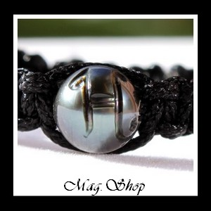 Vehiarii Bracelet Perle de Tahiti Gravée H MAG.SHOP